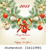 christmas card for design with... | Shutterstock .eps vector #116113981