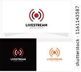 live streaming logo design...   Shutterstock .eps vector #1161143587