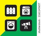 household icon. 4 household set ... | Shutterstock .eps vector #1161145657