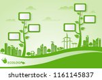 environmental and eco friendly... | Shutterstock .eps vector #1161145837