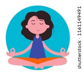 meditation woman. beautiful... | Shutterstock .eps vector #1161149491