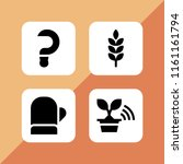 farmland icon. 4 farmland set... | Shutterstock .eps vector #1161161794