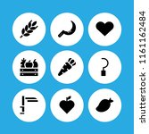 ripe icon. 9 ripe set with... | Shutterstock .eps vector #1161162484