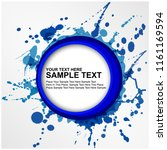 vector blue ink paint brush... | Shutterstock .eps vector #1161169594