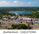 Aerial image of Lake Definiak Springs Florida USA