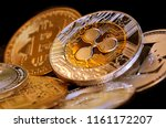 digital cryptocurrency coins  ...   Shutterstock . vector #1161172207