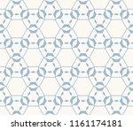 blue vector geometric seamless... | Shutterstock .eps vector #1161174181