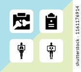 diagnosis icon. 4 diagnosis set ... | Shutterstock .eps vector #1161176914