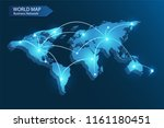vector of world map with... | Shutterstock .eps vector #1161180451