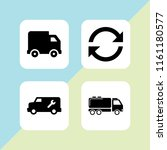 lorry icon. 4 lorry set with... | Shutterstock .eps vector #1161180577
