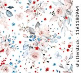 seamless pattern with white  ... | Shutterstock . vector #1161180964