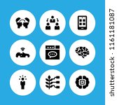 9 interface icons in vector set....