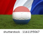 netherlands football team ball... | Shutterstock . vector #1161195067