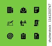 9 list icons in vector set....   Shutterstock .eps vector #1161203767