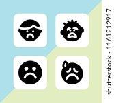despair icon. 4 despair set... | Shutterstock .eps vector #1161212917