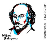 william shakespeare engraved... | Shutterstock .eps vector #1161217384
