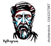 Pythagoras Engraved Vector...