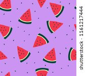 slices of watermelon on a... | Shutterstock .eps vector #1161217444
