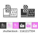 velcro fastener black linear... | Shutterstock .eps vector #1161217534