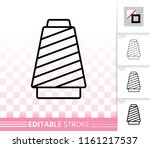 sewing thread thin line icon.... | Shutterstock .eps vector #1161217537