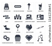 set of 16 icons such as cheers  ...