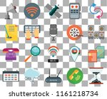 set of 20 transparent icons...   Shutterstock .eps vector #1161218734