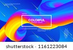 abstract wave 3d background... | Shutterstock .eps vector #1161223084