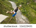 Bungee Jump Sequence In Banos...