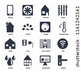 set of 16 icons such as handle  ...