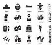 set of 16 icons such as grains  ...