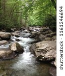mountain stream with water... | Shutterstock . vector #1161246694