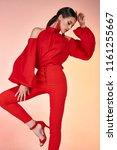 pretty beautiful sexy elegance...   Shutterstock . vector #1161255667