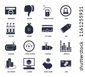 set of 16 icons such as link ...