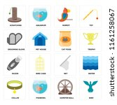set of 16 icons such as bird ... | Shutterstock .eps vector #1161258067