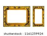 set vintage golden frame ... | Shutterstock . vector #1161259924