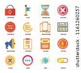 set of 16 icons such as switch  ...