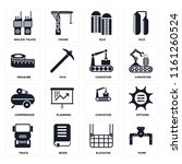 set of 16 icons such as pump ...