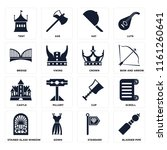 set of 16 icons such as bladder ...