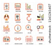 set of 16 icons such as banker  ...