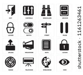 set of 16 icons such as view ...