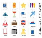 set of 16 icons such as luggage ...