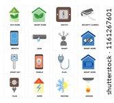 set of 16 icons such as sensor  ...