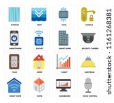 set of 16 icons such as voice...