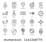 set of 20 icons such as world ...