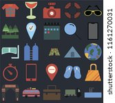 set of 25 icons such as... | Shutterstock .eps vector #1161270031