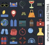 set of 25 icons such as phone ...