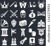 set of 25 icons such as shield  ...