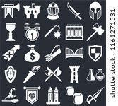 set of 25 icons such as dagger  ...