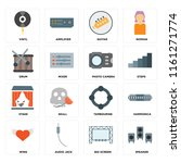 set of 16 icons such as speaker ...