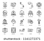 set of 20 icons such as file ...